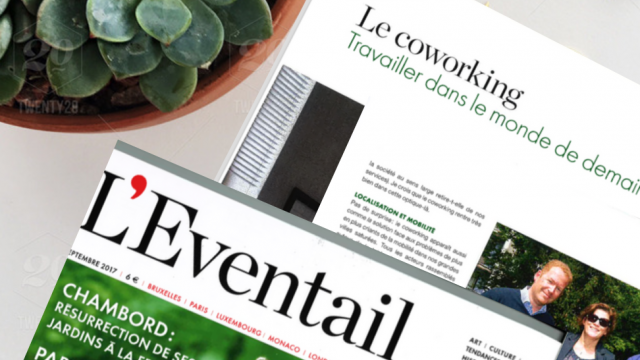 Coworking door Chester&Fields in het magazine l'Eventail